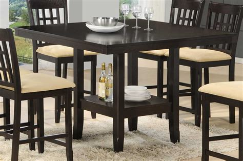 gathering dining tables hillsdale tabacon counter height gathering table with wine 1200