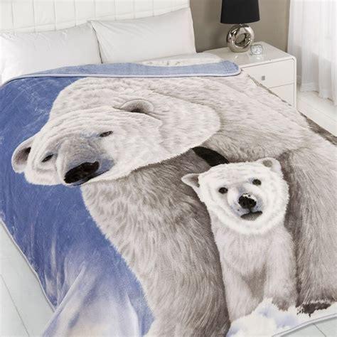 polar bear mink fleece blanket throw tonys textiles