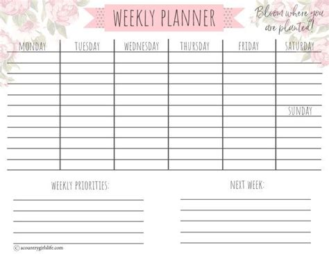 printable daily planner  matching monthly