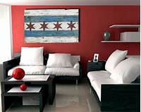artwork for home Handmade, Distressed Wooden Chicago Flag, vintage, art ...