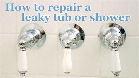 repair  leaky shower  tub faucet pretty handy girl