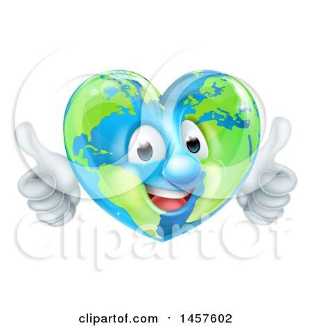 freeheart shaped world clipart   cliparts