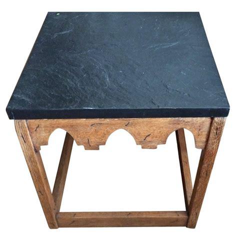 slate top end table slate top side table at 1stdibs