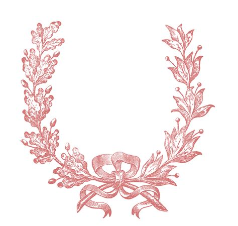 graphics clipart vintage clip wreath engraving the graphics