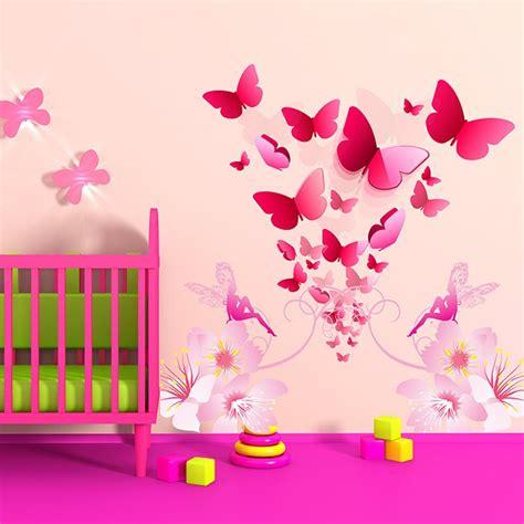 stickers chambre de bébé stickers chambre bébé florilège de papillons enchanteurs