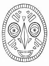 Mask African Printable Template Coloring Pages Masks Drawing Africa Preschool Print Craft Pattern Adult Lesson Plan Theme Paper Safari Child sketch template
