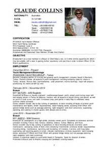 yacht stewardess resume cv 2015