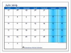 Calendrier juin 2019 75LD