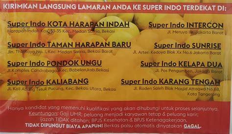 lowongan kerja  super indo bekasi jakarta tangerang