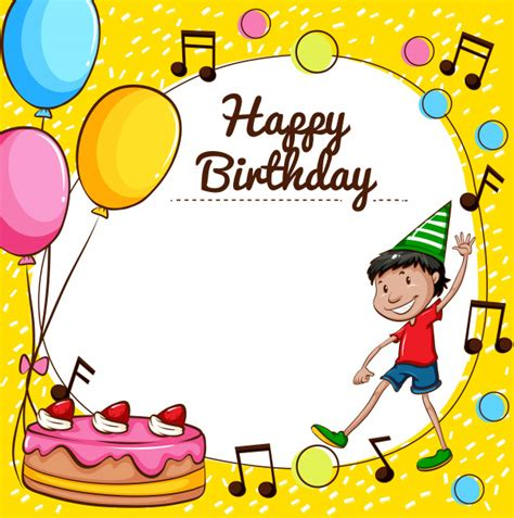 birthday card boy template happy birthday card template vector free