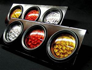 Led Stop Tail Lights Truck Ute Trailer Caravan 24v Pair