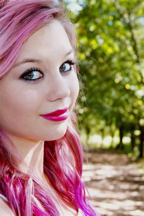 Pretty In Pink Faces Nature Pink Hair Women Wallpaper