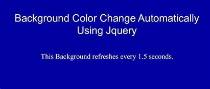 Background Change Jquery Using Automatically Website Animation
