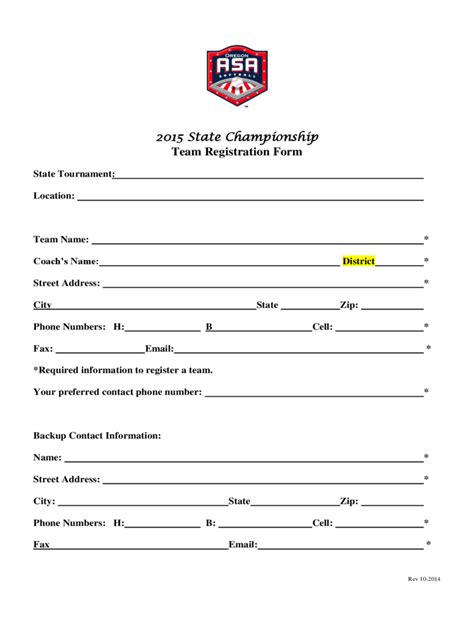 Tournament Application Form Template by Team Registration Form 2 Free Templates In Pdf Word