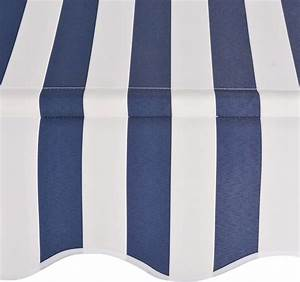 Vidaxl Manual Retractable Awning 118 U0026quot  Blue And White