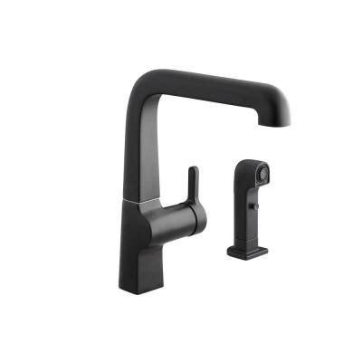 Evoke Kitchen Faucet by Kohler Evoke 2 1 Handle High Arc Side Spray Kitchen