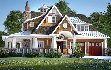 Home Design Plans : Gorgeous Shingle-style Home Plan