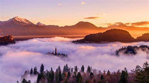 Wallpaper Sunset, Mountains, Hd, Nature, #6761