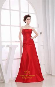 long red bridesmaid dresses sweetheart long pleated With long red dress for wedding