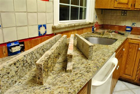kitchen reno removing our sink our granite counters