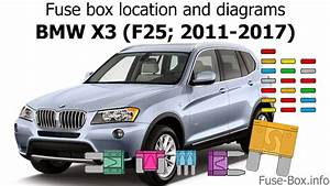 Fuse Box Location And Diagrams  Bmw X3  F25  2011-2017