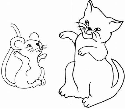 Mouse Cat Clipart Clip Drawing Penny Line