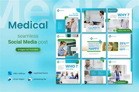 medical social media post blue color theme social