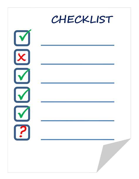 Checklist Clipart Clipart Checklist