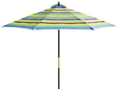 catalina cove stripe    polyester umbrella