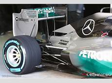 Mercedes AMG F1 W05 rear suspension and rear wing Photo