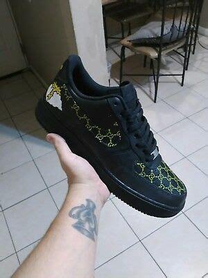 nike air force  black  yellow custom hand painted