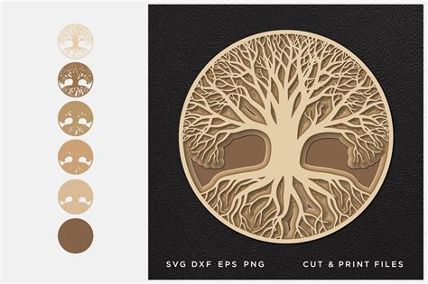 We are back with day four of our 10 days of freebies as we celebrate 100k friends on our fb page! Tree of Life svg, Cut file Mandala, Multilayer, Layered svg
