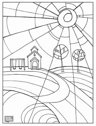Coloring Pages Teacher Teachers Adult Sunshine Printable