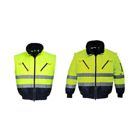 Augstas redzamības darba jaka Pesso Pilot, dzeltena - Augstas redzamības jakas - Darba apģērbu ...