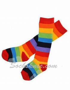 Neon Rainbow Striped Premium Quality Cotton Knee High