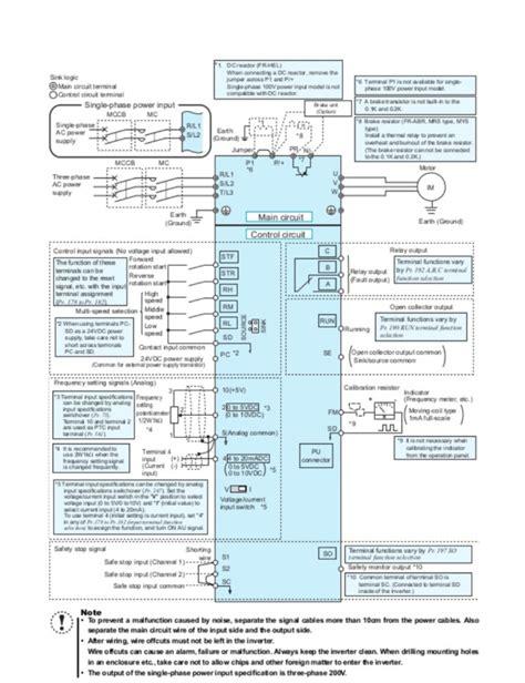 Wiring Diagram Inverter Mitsubishi fr d700 mitsubishi ac drive drives servo motion