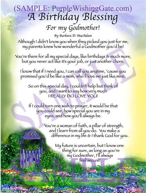 birthday blessing   godmother birthday blessings