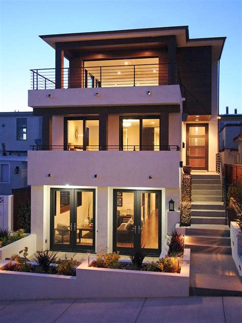Home Design, Modern House Facade In Home With Tropical