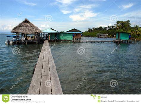 panama house on water royalty free stock photo image
