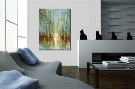 painting original contemporary abstract city painting