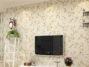 House 3D TV wall pastoral style wallpaper