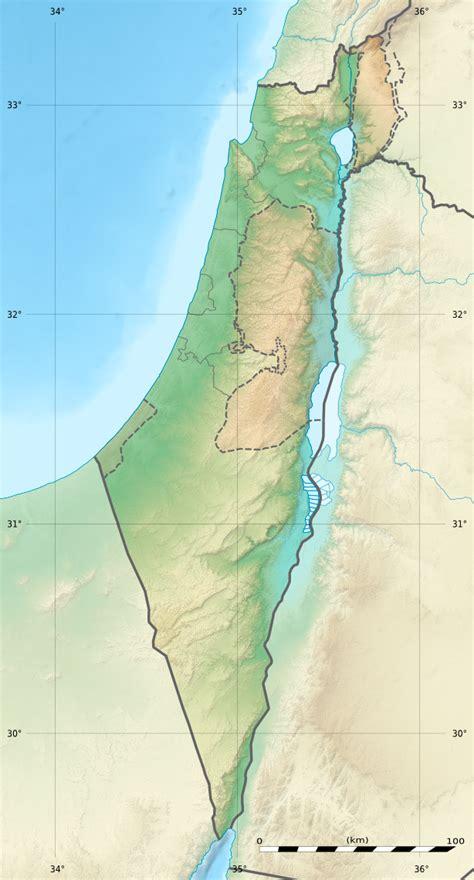 Карта - Израел - 614 x 1,141 Пиксел - 178.86 KB - Криейтив Комънс CC BY-SA 3.0 US - FreeMapViewer