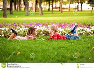 Love Concept. .Couple Of Children Outdoor Royalty Free ...