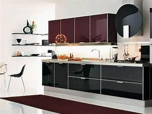 Muebles, De, Cocina, Modernos, De, Melamina, Puertas, De, Cristal