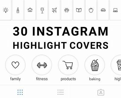 Story Highlight Instagram Icons Pink Pastel Grey