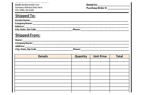 local purchase order template free download