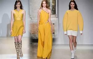 jaune poussin couleur tendance automne hiver 2014 2015 With tendances mode 2015