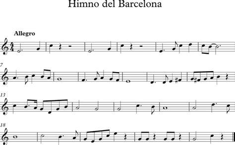 Himno del Barcelona Partituras Musica partituras Piano