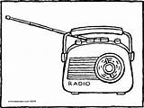 Radio Colouring Pages Drawing Kiddicolour Email Recipient sketch template