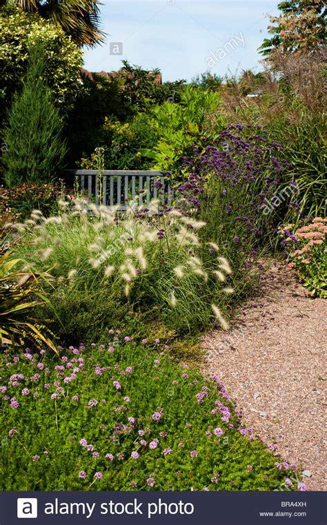 Der Chemische Garten by Pennisetum Villosum Stockfotos Pennisetum Villosum